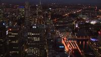 Melbourne City Lights Stock Video Montage