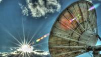 HDR Satellite Dish Stock Video