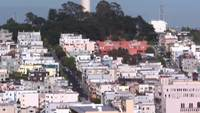 Coit Tower City Scape vídeo de stock en HD