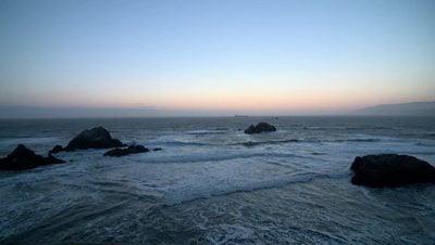 Beach Rocks At Dusk Stock Video in HD