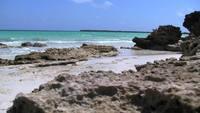 Beach Rocks & Clear Blue Ocean