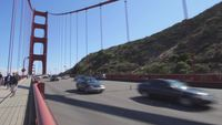 Marcher dans le Golden Gate Bridge