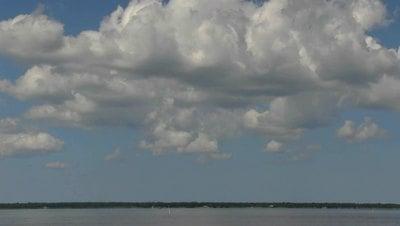 Large Cumulus Clouds Video