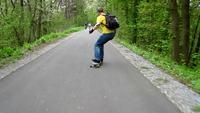 Longboarding panorama fahrrad