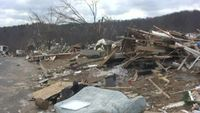 Tornado Damage Stock Video Trussville, Alabama