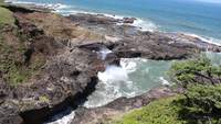 Cook's Chasm, Oregon Coast Stock Video