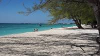 A beach scene taken on Grand Cayman Island.