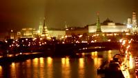 Kremlin bei Nacht Stock Video Footage