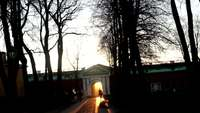 Zonsopgang door de Poort HD Stock Video