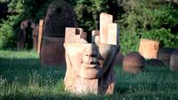 Abstract Face Sculpture HD Stock Video