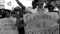 Brasilianischer Protest HD Stock Video