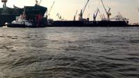 Hamburg Docks HD Stock Video