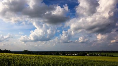 Clouds Over Field Free HD Video