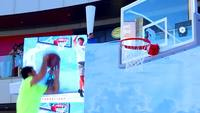 Zeitlupe Slam Dunk HD Stock Footage