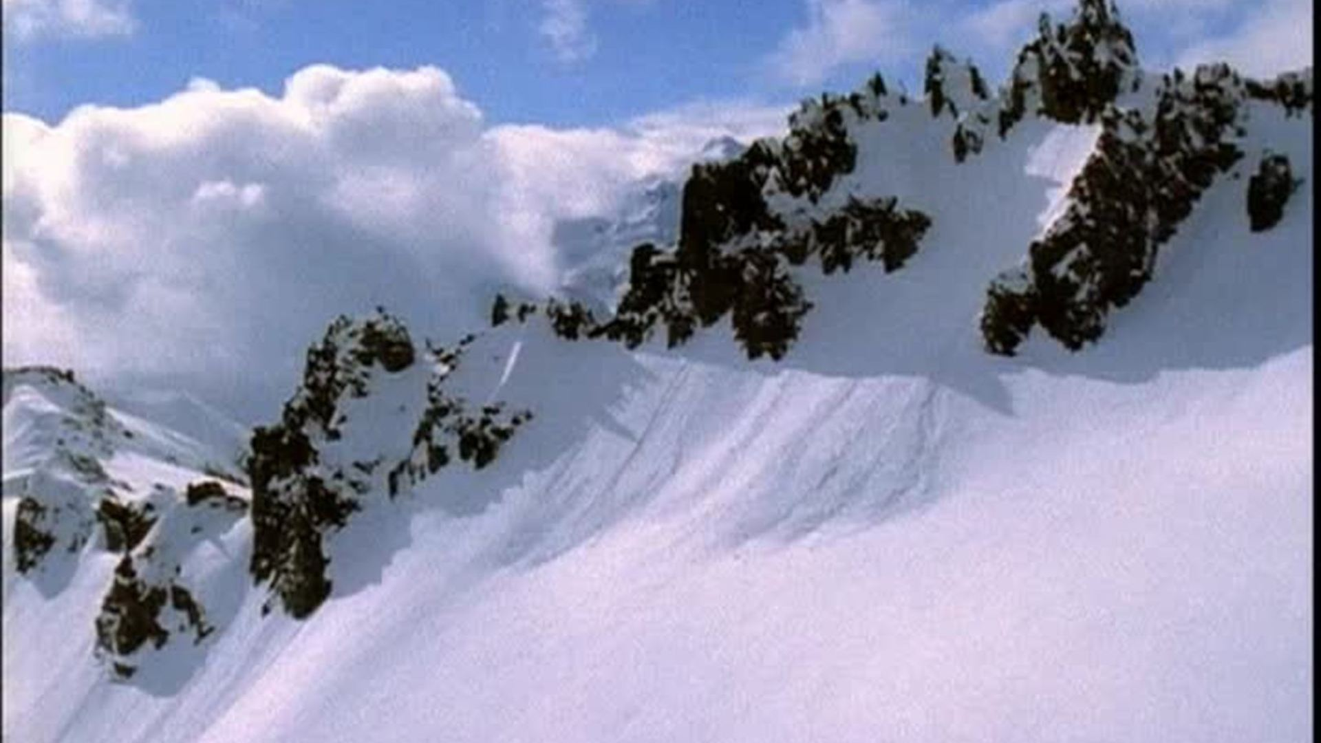 Flying Over Snow Covered Mountains Free HD Video - Free HD Video