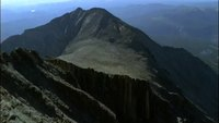 Aerial_view_of_mountain_peaks_free_stock_footage