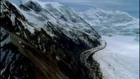 Aerial_shot_of_glacier_area_free_stock_footage