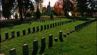 stock footage: Antietam-Friedhof