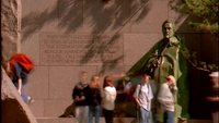 Franklin Roosevelt Memorial Time Lapse Kostenloses Stock Footage