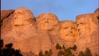 Mount Rushmore vid Sunset Gratis Footage