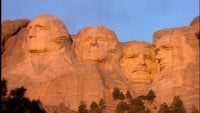 Mount_rushmore_at_sunset_free_footage
