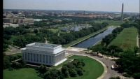 Luchtfoto van de National Mall vrije Stock Video