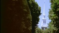 Church_and_graveyard_free_stock_footage