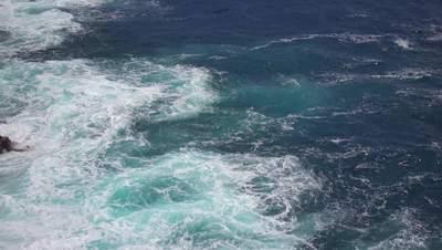 Choopy Water of the Pacific Ocean 4K