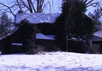 Snowy Old House Stock Video