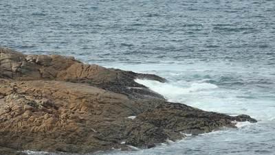 Beach Rocks & Blue Ocean