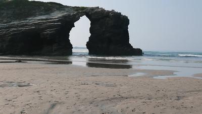 Beatiful rocks in the beach