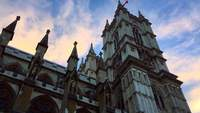 Westminster Abbey Perspektive in London England 4K