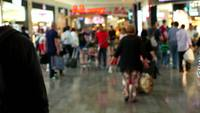 People walking in a shopping area 4K stock video
