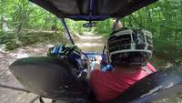 Dune buggy driving adventure stock clip