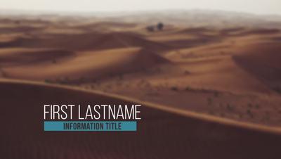 Stylish Desert Clean Lower Third After Effects 模板
