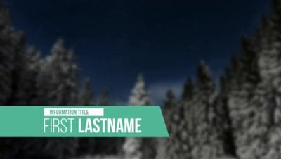 Elegant Evergreen Clean Lower Third After Effects 模板