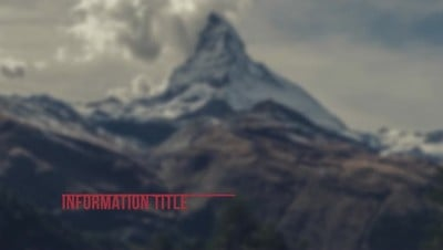 Minimal Mountain Clean Lower Third After Effects 模板
