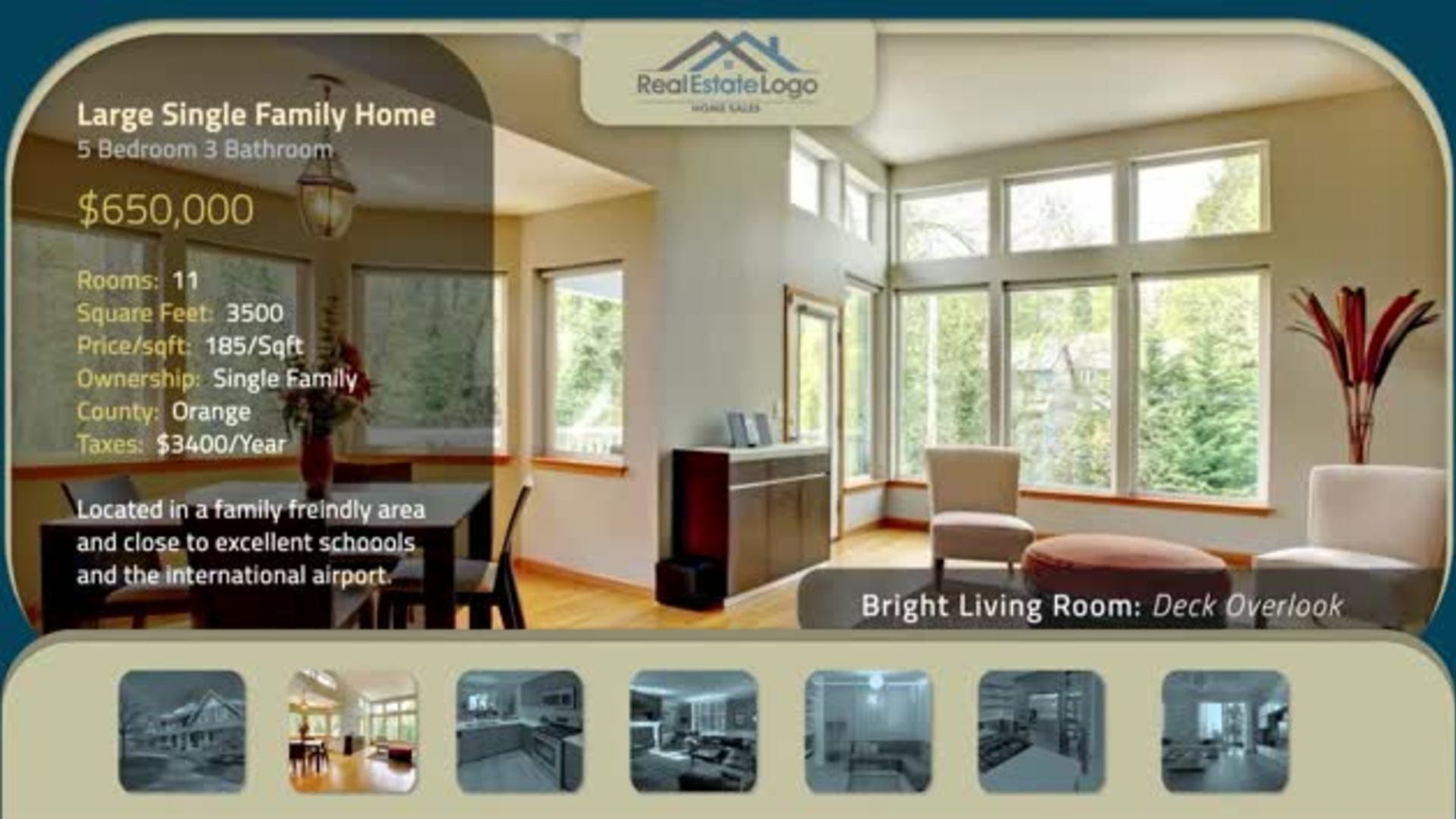 blue real estate presentation slideshow after effects template