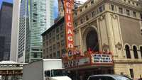 Cars In Front of the Historic Chicago Theater 4K
