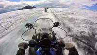 GoPro Footage de Snowmobile on Glacier in Iceland HD