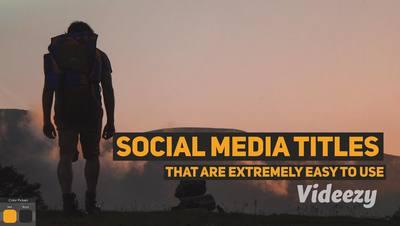Bold Social Media Titles