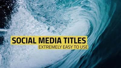 Case Social Media Titles