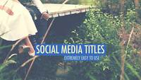 Echo social media títulos