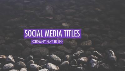 Gentle Social Media Titles