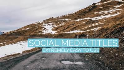 Pastel Social Media Titles
