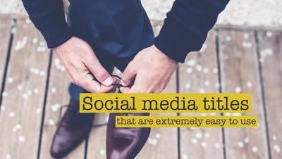 Strip Social Media Titles