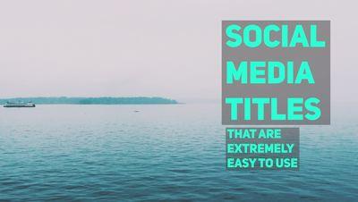 Tall Social Media Titles