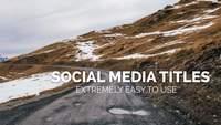 White Social Media Titles