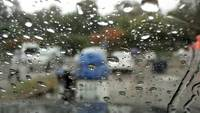 Rain in Car Window