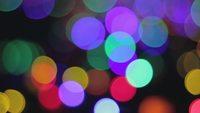 Bright Panning Bokeh Lights 4K Stock Video